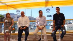 Isabel Bonig, Pedro Antonio Sánchez, Juanma Moreno y García Albiol en Cartagena (PP)