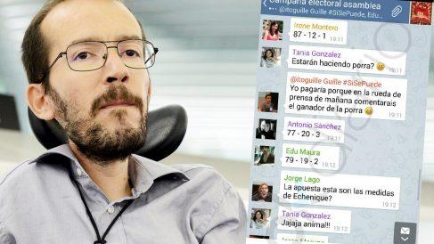 Los mensajes de burla que miembros del equipo de Pablo Iglesias dedicaron a Pablo Echenique