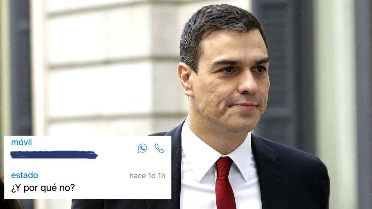El nuevo estado de WhatsApp de Pedro Sánchez.