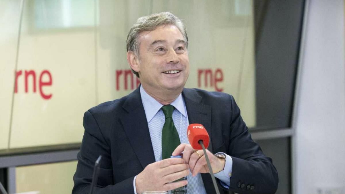 José Manuel Barreiro, portavoz del PP en la Cámara Alta, en los estudios de RNE.