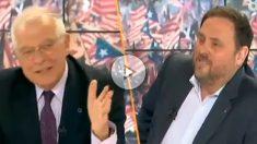 Josep Borrell y Oriol Junqueras.