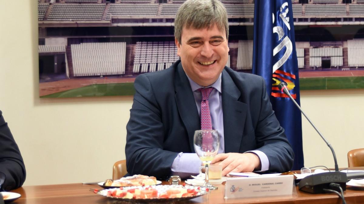 Miguel Cardenal, en un desayuno informativo. (CSD)