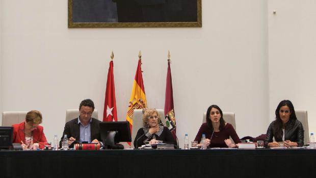 El Pleno del Ayuntamiento con los portavoces de los cuatro grupos. (Foto: Madrid)
