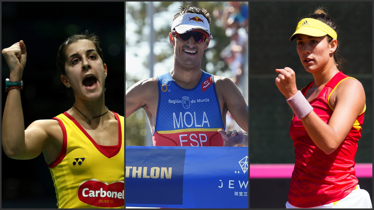 Carolina Marín, Mario Mola y Garbiñe Muguruza tienen opciones de medalla en Río 2016. (Getty)