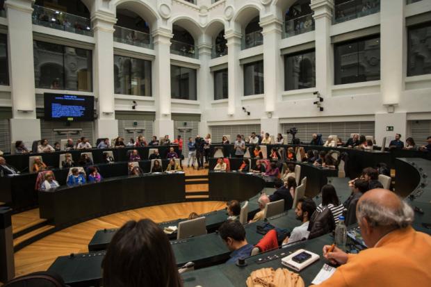 Pleno del Ayuntamiento Madrid en el Palacio de Cibeles. (Foto: Madrid)