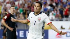 Carlos Bacca celebra un gol con Colombia en la Copa América. (Getty)