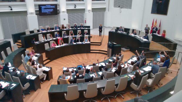 El Pleno con Carmena presidiendo este miércoles. (Foto: OKDIARIO)