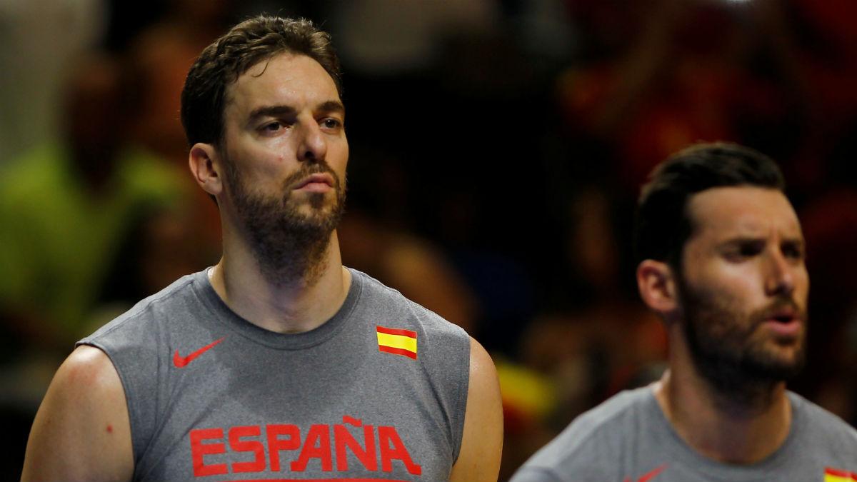 Pau Gasol en un partido con España. (Reuters)