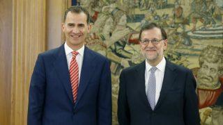 El Rey Felipe VI y Mariano Rajoy en Zarzuela.  (Foto: EFE)