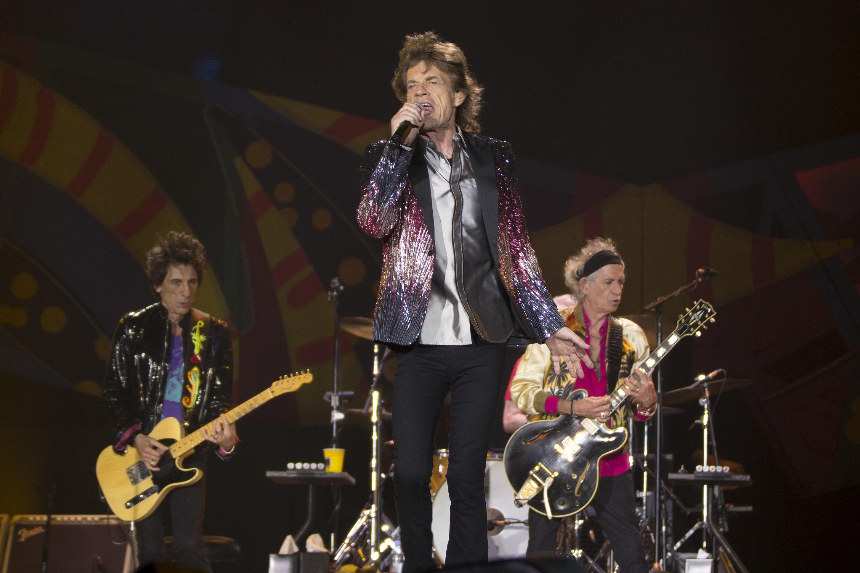 Los Rolling Stones durante un concierto (Foto: Getty).