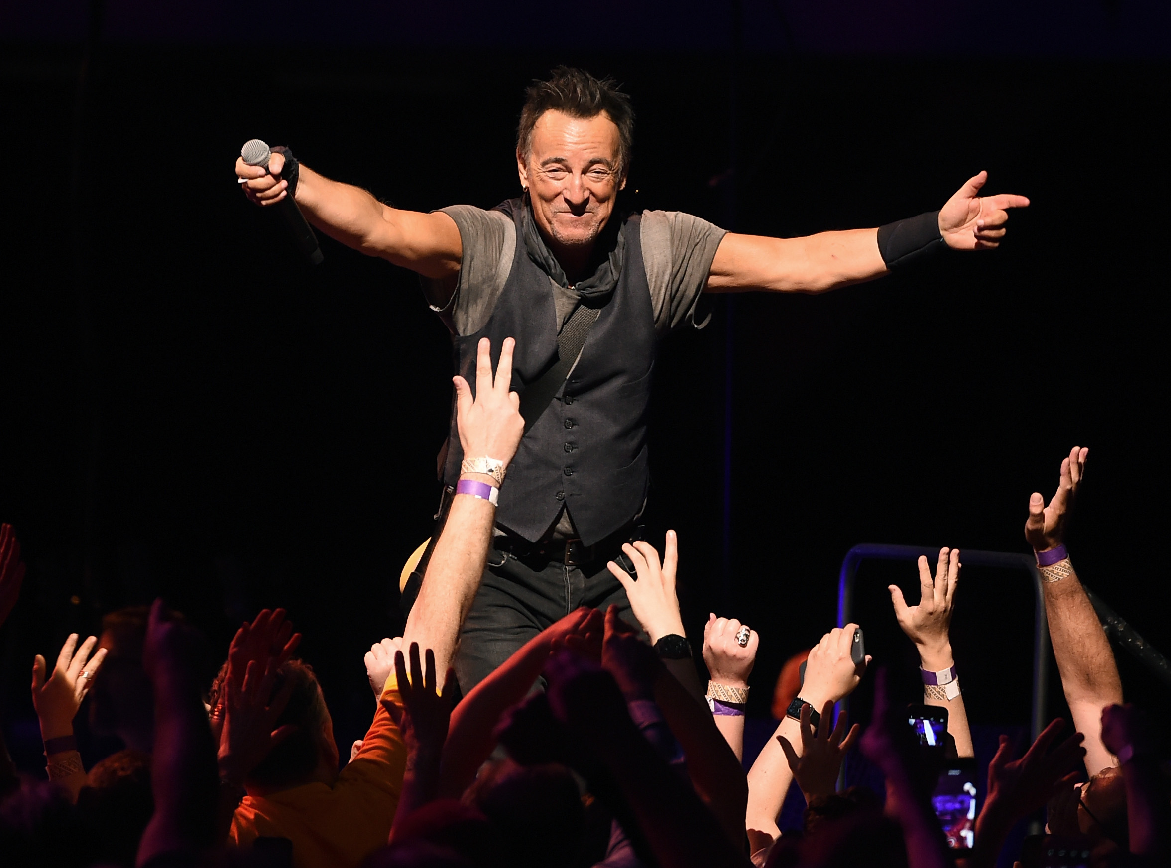 Bruce Springsteen And The E Street Band Performs At The Los Angeles Sports Arena