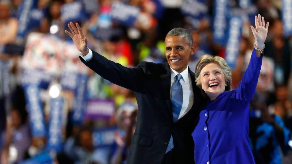 Barack Obama y Hillary Clinton. (Foto: AFP)