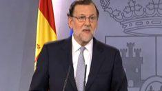 Mariano Rajoy comparece en Moncloa.