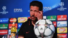 Simeone, en la rueda de prensa previa a la final de Champions. (Getty)