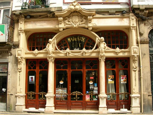 Café Majestic en Oporto.