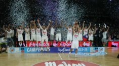El Real Madrid celebra la Liga Endesa. (Getty)