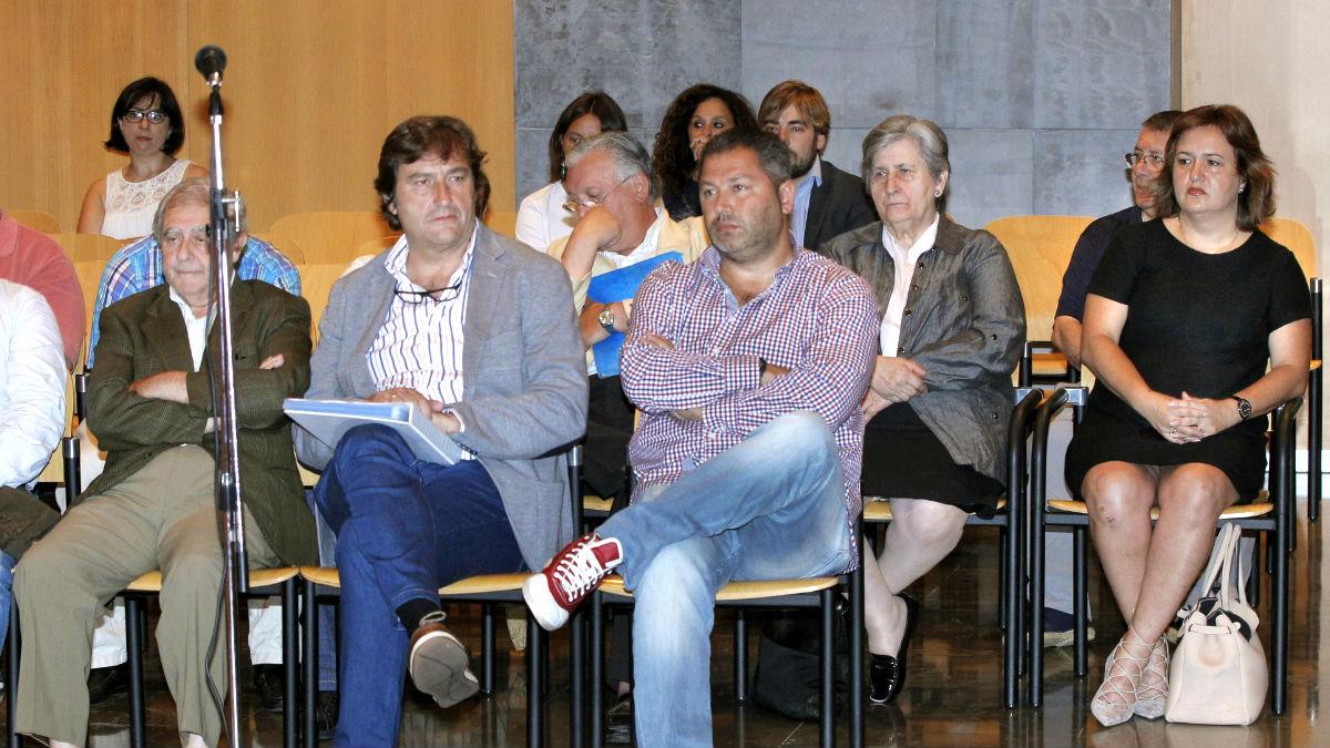 Imagen de los procesados en el 'caso Marea' (Foto: EFE).'