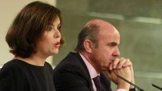 Soraya Sáenz de Santamaría y Luis de Guindos.