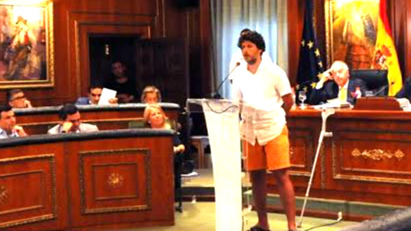José Carlos 'Kata' Núñez durante su intervención en el Pleno sobre el Estado de la Ciudad.