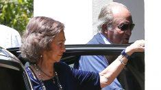 Don Juan Carlos y Doña Sofía este sábado en Mallorca (Foto: Efe).