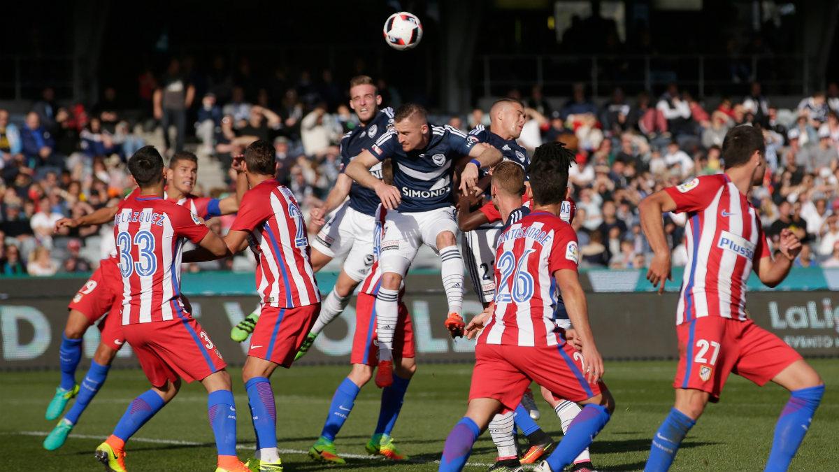 El Atlético perdió 1-0 contra el Melbourne Victory. (Getty)