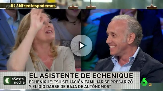 Elisa Beni amenaza a Eduardo Inda para defender a Podemos