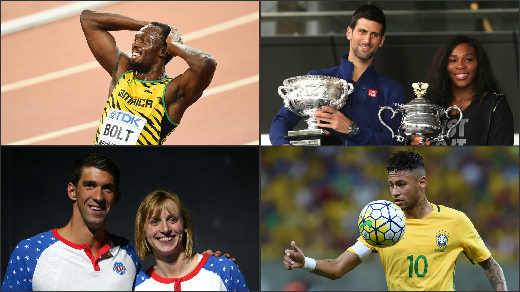 Las grandes estrellas de los Juegos Olímpicos.