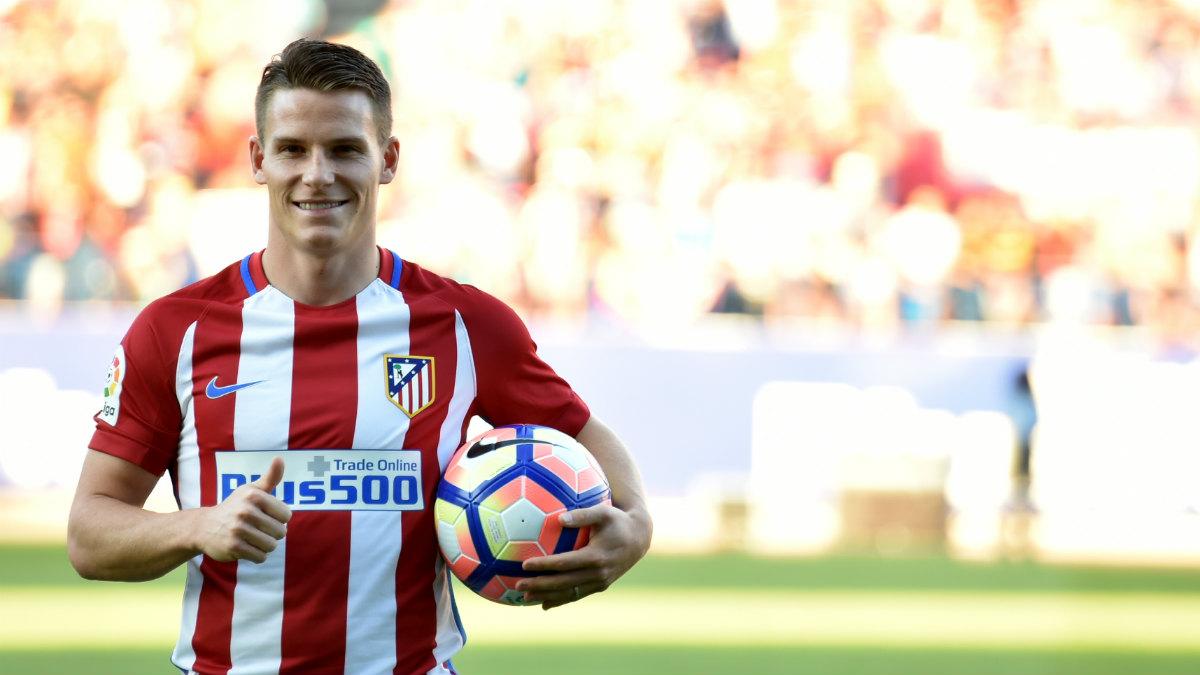 Kevin Gameiro, en su presentación con el Atlético. (AFP)