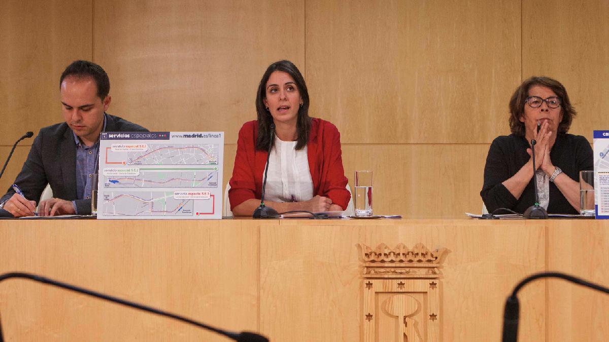 José Manuel Calvo (Urbanismo), Rita Maestre e Inés Sabanés (Movilidad). (Foto: Madrid)