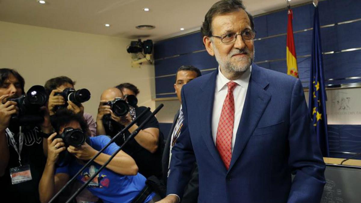 Mariano Rajoy comparece en rueda de prensa para trasladar a los medios el contenido de su reunión con el líder del PSOE, Pedro Sánchez. (Foto: EFE)