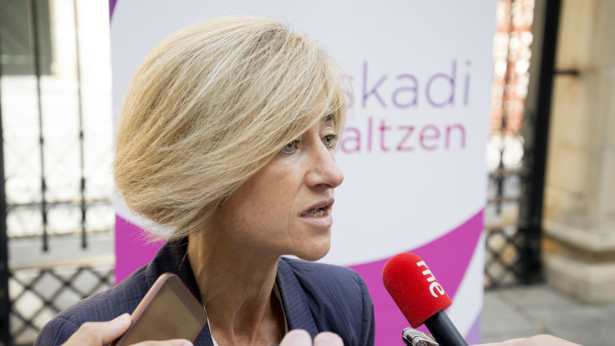 Pili Zabala, candidata a lehedakari de Podemos. (Foto:EFE)