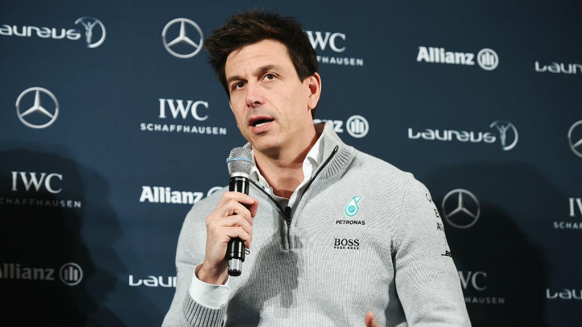 Toto Wolff parece tener muy claro quien es el caballo ganador de Mercedes. (Getty)