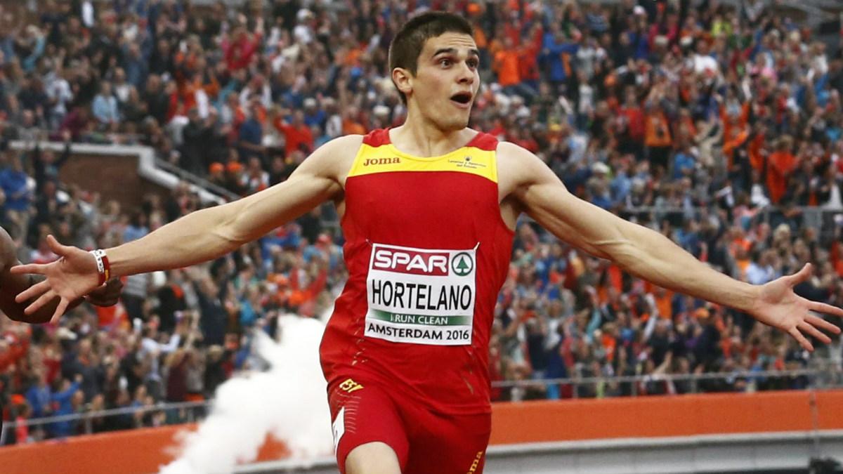 Bruno Hortelano durante los europeos de Ámsterdam. (AFP)