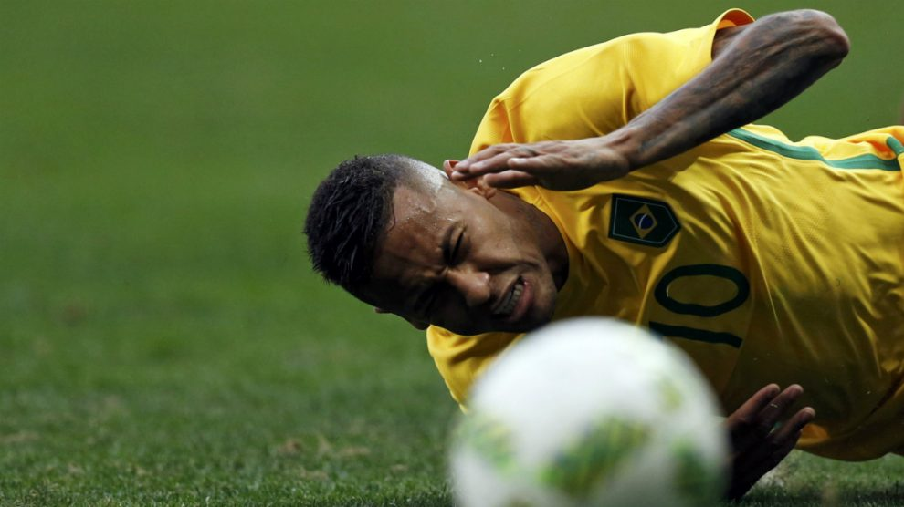 Neymar no marcó ante Sudáfrica. (Reuters)