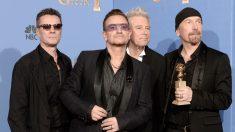 La banda U2 al completo. (Foto: Getty)
