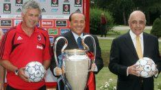 Berlusconi, en los últimos tiempos dorados del AC Milan. (AFP)