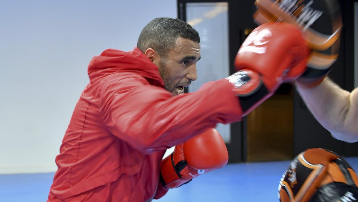 Hassan Saada, boxeador detenido en la villa olímpica. (AFP)