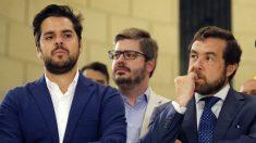 Fernando de Páramo, Francisco Hervías y Miguel Gutiérrez, dirigentes de Ciudadanos. (EFE)