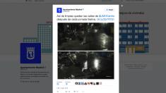 Tuit del Ayuntamiento de Carmena presumiendo de la limpieza de Madrid. (Clic para ampliar)