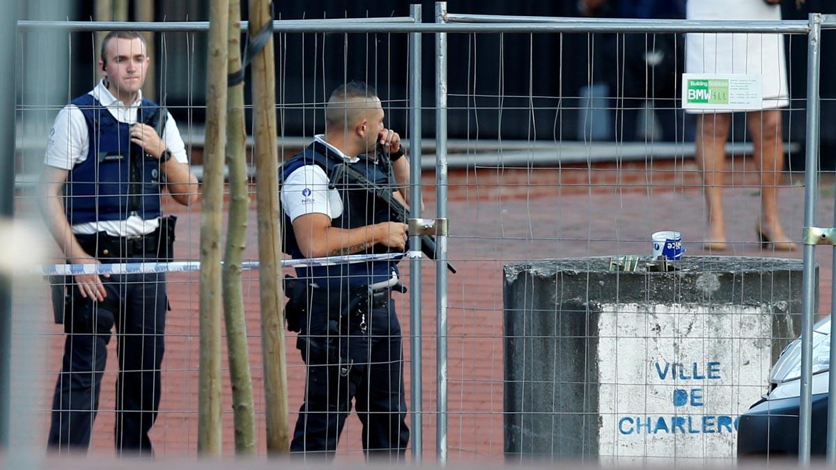 Policía en Charleroi (Foto: Reuters)