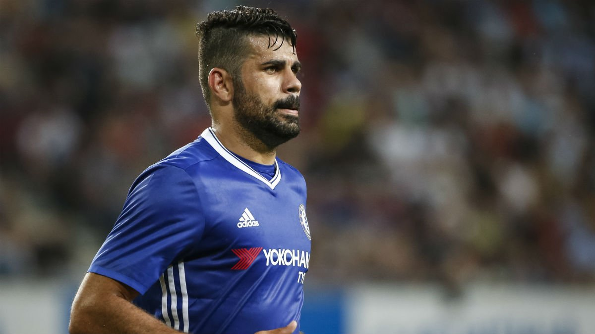 Diego Costa durante un partido con el Chelsea