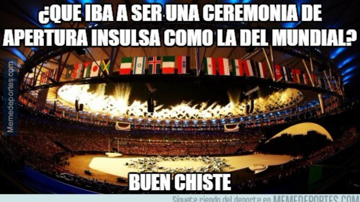Memes sobre la ceremonia de apertura de los Juegos.