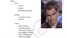 Una de las fichas elaboradas por Podemos sobre los participantes en el programa La calle pregunta de la Sexta.