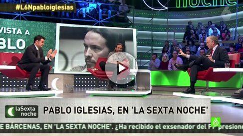 Pablo Iglesias, en La Sexta Noche en enero de 2015.