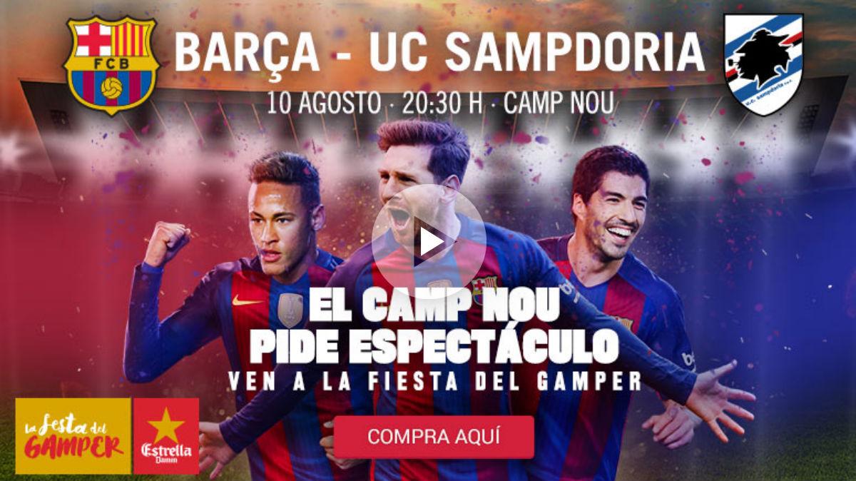 El Barcelona anuncia el Gamper con Neymar.