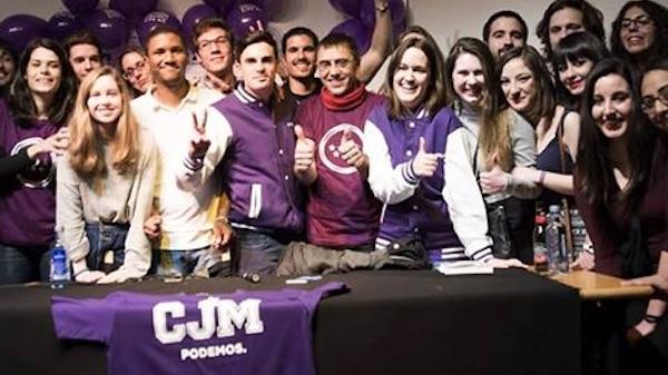 Círculo Joven de Podemos en Madrid con Juan Carlos Monedero.