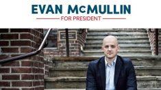 El cartel electoral del independiente Evan McMullin.