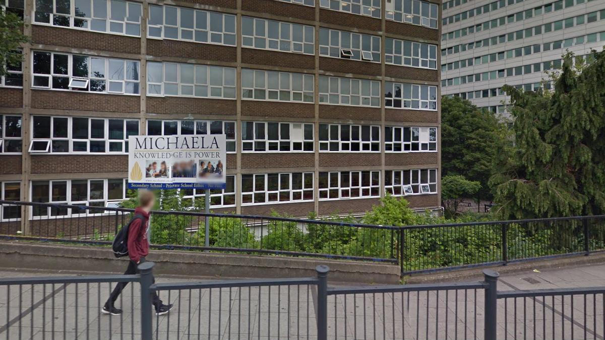 La escuela Michaela en londinense barrio de Wembley. (Foto: Google Maps)