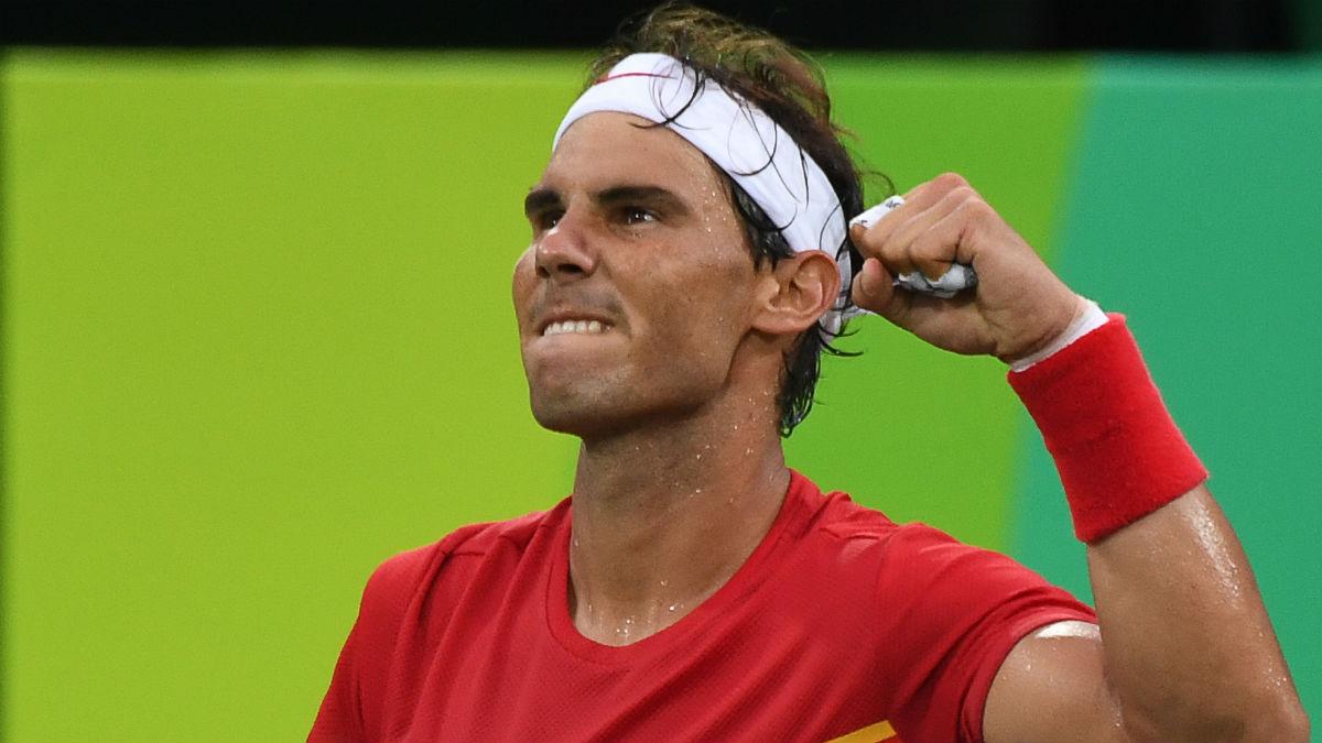 Rafa Nadal, en su debut en los Juegos Olímpicos contra Delbonis. (AFP)