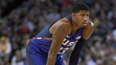 Paul George, miembro del Dream Team, no daba crédito. (AFP)
